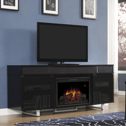 Classic Flame Enterprise 26MMS9626 Electric Fireplace Entertainment with Integrated Sound Bar, Traditional Insert, Side Storage Cabinets and Adjustable Shelves in