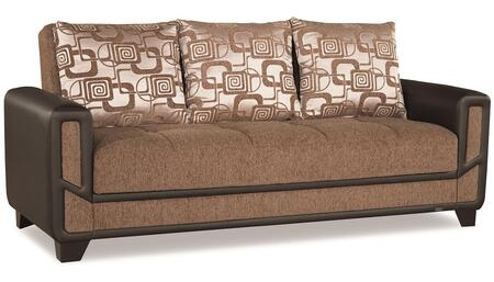"Casamode Mondo Modern Collection MONDO MODERN SOFABED 91"" Sofa Bed with Chenille Fabric Upholstery, Track Arms and Under Seat Storage in"
