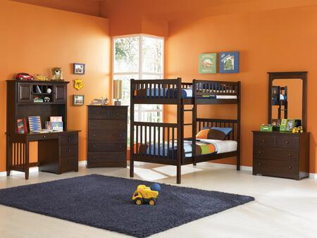 Atlantic Furniture YBBARIZONATWINTWINAW Arizona Series  Twin Size Bunk Bed