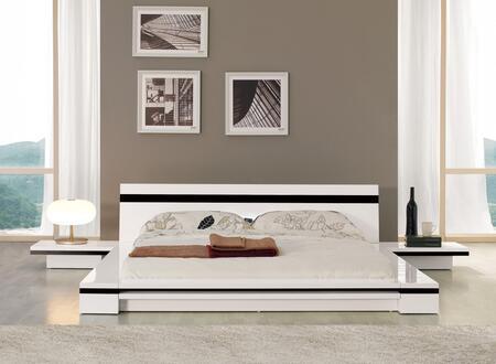VIG Furniture VGKCSONATAWHTCK Modrest Sonata Series  Platform Bed