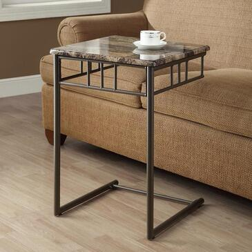 Monarch I 303 Snack Table, with Metal Legs, Square Top, and Contemporary Design