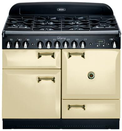 "AGA ALEG44DFCRM 44"" Legacy Series Dual Fuel Freestanding Range with Sealed Burner Cooktop, 2.4 cu. ft. Primary Oven Capacity, Storage"