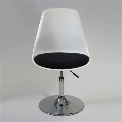 Fine Mod Imports FMI2129WHITEBLACK Commercial/Residential Suede Upholstered Bar Stool