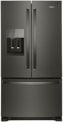 "Whirlpool WRF555SDx 36"" French Door Refrigerator with 25 cu. ft. Capacity, External Water and Ice Dispenser, Spillproof Shelves, Two-Tier Freezer Storage and Tap Touch Controls in"