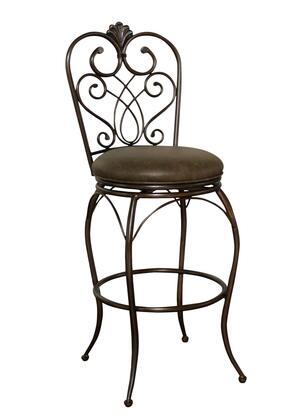 American Heritage Solace Series 1XX907CLA Transitional Stool with Full Bearing Swivel, Uniweld Construction, and Adjustable Leg Levelers Finished in Clay with Coco Bonded Leather