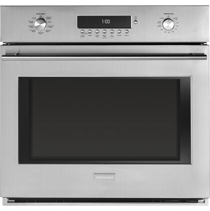 "GE Monogram ZET1xSS 30"" Electric Single Wall Oven with 5 cu. ft. Capacity, True European Convection, LED Lighting, WiFi Connect and Self Clean with Steam Clean Option, in Stainless Steel"