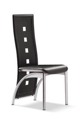 VIG Furniture VGLEY036BLK Modrest Series  Metal Frame Dining Room Chair