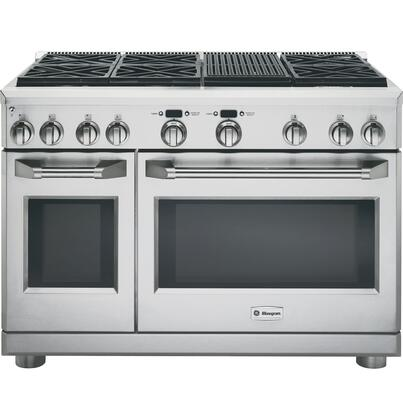 "GE Monogram ZGP486XRRSS 48"" Star K, Professional Range with 6 Sealed Dual-Flame Burners and Grill, 8.9 cu. ft. Oven Capacity, Heavy-Duty Oven Racks and LED Task Lights, in Stainless Steel:"