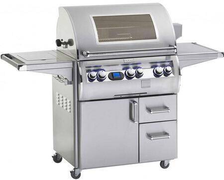 FireMagic E660S-4L1X-62-W Echelon Diamond Series X Grill with Single Side Burner, One Infrared Burner and Window, 660 Sq. In. Cooking Area,Multi-functional Electronic Digital Thermometer: Stainless Steel