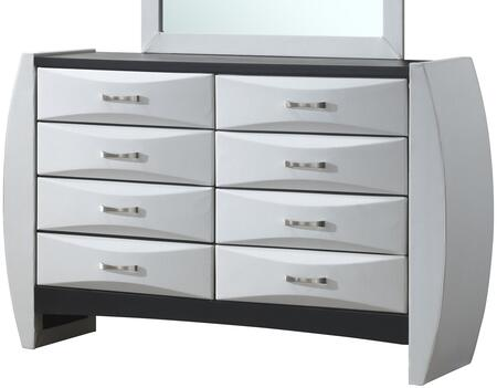 """Glory Furniture 64"""" Dresser with 8 Drawers, Beveled Drawer Fronts, Metal Hardware and Wood Construction"""