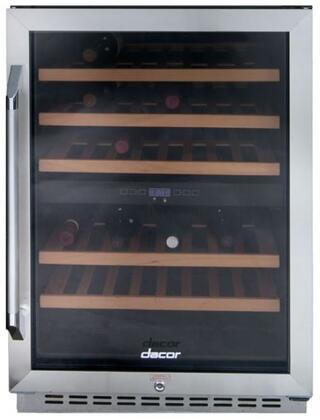 Dacor RNF24 Renaissance Series 46 Bottle x Zone Wine Cooler with DynamicClimate Mode, EasyGlide Racks, Automatic Defrosting System, and x Hinge Door in Stainless Steel