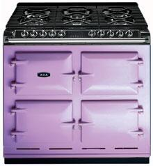 AGA A64NGHEA Six-Four Series Dual Fuel Freestanding Range with Sealed Burner Cooktop, 4.5 cu. ft. Primary Oven Capacity, in Heather