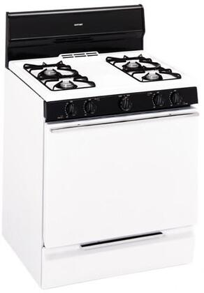 Hotpoint RGB524PEHWH  Gas Freestanding Range with 4 Open Burner Cooktop Broiler 4.8 cu. ft. Primary Oven Capacity  Appliances Connection