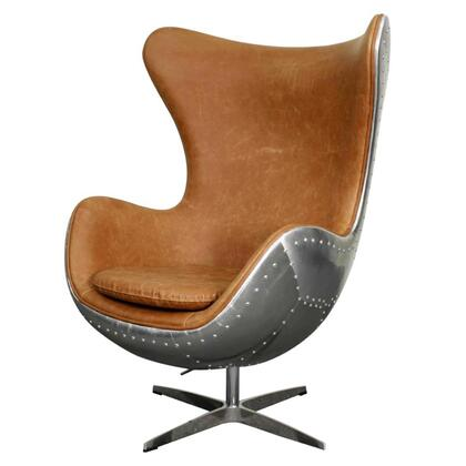 New Pacific Direct Template: Axis Collection 633043P-D3-AL PU Swivel Rocker Chair with Aluminum Frame in Distressed Mocha