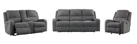 Milo Italia MI5071SLRCHAR Miguel Living Room Sets