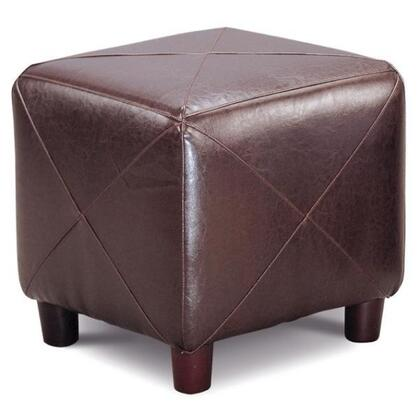 Coaster 500124 Accent Series Contemporary Faux Leather Ottoman