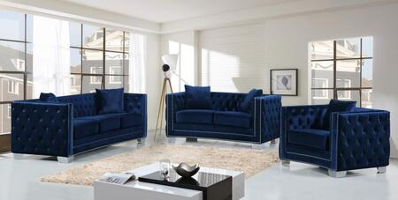 Meridian 648NAVYSLC Reese Living Room Sets