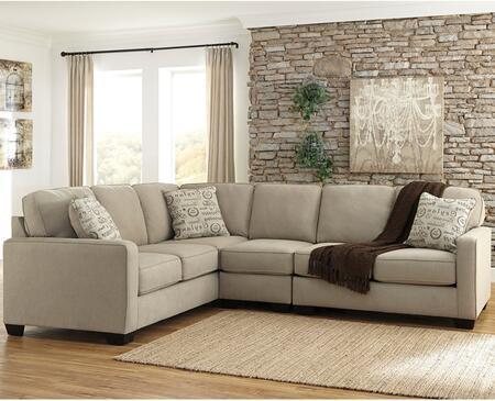 Flash Furniture FSD1669SEC3LAFSQTZGG Alenya Series Stationary Microfiber Sofa