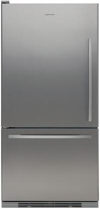 Fisher Paykel RF175WCLX1 Active Smart Series Counter Depth Bottom Freezer Refrigerator with 17.5 cu. ft. Total Capacity 5.1 cu. ft. Freezer Capacity 2 Glass Shelves