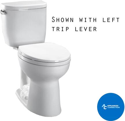 Toto CST24EFR01 Entrada Series Two-Piece Toilet with Vitreous China Construction, E-Max Flushing System, and Right Chrome Trip Lever