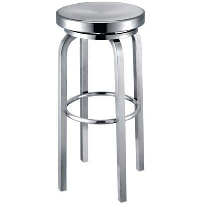 Fine Mod Imports FMI100XXALUMINUM Navy Bar Chair, Aluminum