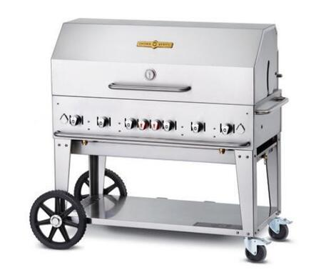 """Crown Verity CVMCB48 48"""" Liquid Propane Mobile Grill up to 99,000 BTUs   in Stainless Steel"""