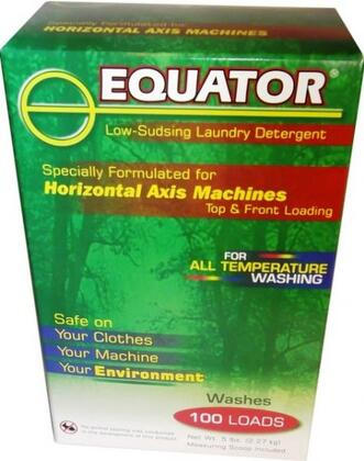 Equator HED284x HE Laundry Detergent Whitens Whites and Brightens Colors, Will not harm Stainless Steel Drums, Phosphate, Dye and Fragrance Free, Dissolves Easily and Septic Tank Safe