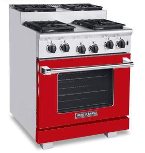 American Range ARR304SBR Titan Series Gas Freestanding Range with Sealed Burner Cooktop, 4.8 cu. ft. Primary Oven Capacity, in Red