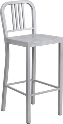 "Flash Furniture 30"" Counter Height Bar Stool with Vertical Slat Back, Protective Plastic Floor Glides, Footrest and Powder Coat Finish"