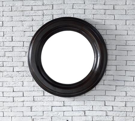 """James Martin Vancouver Collection 505-MXX-CEO XX"""" Mirror with American Ash Solids, Beveled Glass and Recessed Keyhole Brackets in Cerused Ebony Oak"""