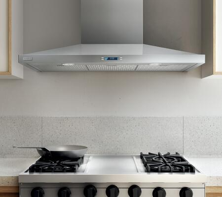 Elica ELG63 Aspire Series Lugano Wall Mount Chimney Hood with 600 CFM Internal Blower, Heat Guard, CFM Reduction System, Stainless Steel Micro Hole Filters, and 2 Halogen Lights: Stainless Steel