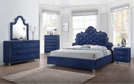Meridian CAROLINEQPBDM2NC Caroline Queen Bedroom Sets