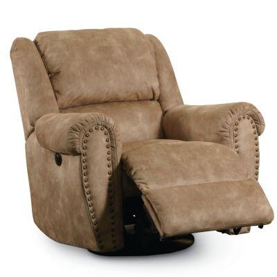 Lane Furniture 21495514113 Summerlin Series Transitional Vinyl Wood Frame  Recliners