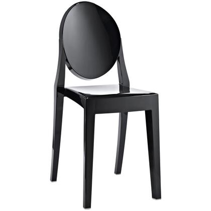 Modway EEI122BLK Casper Series Modern Not Upholstered Polyblend Frame Dining Room Chair