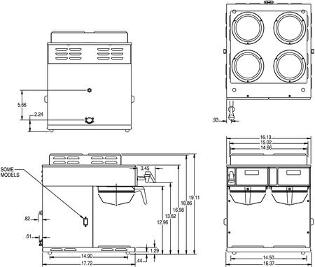 Bunn brew phase wiring diagram wiring diagrams schematics bunn o matic 387000014 16 4 inch countertop coffee and tea brewing bunn o matic dimension bunn brew phase wiring diagram asfbconference2016 Images