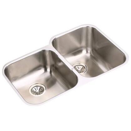 """Elkay EGUH3120 31"""" Undermount 18-Gauge Double Bowl Stainless Steel Sink"""