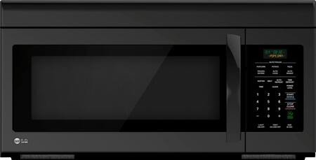 LG LMV1683SB 1.6 cu. ft. Black Over the Range Microwave Oven with 300 CFM, 1000 Cooking Watts,