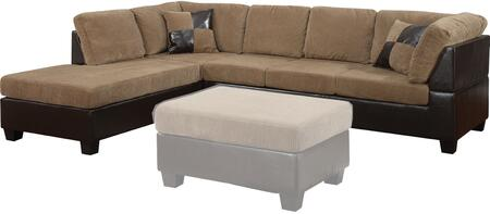 Acme Furniture 55945 Connell Series Sofa and Chaise Fabric Sofa