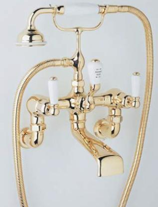 Rohl U.3510L/1- Exposed Wall Mounted Tub Filler With Handshower and Lever Handles: