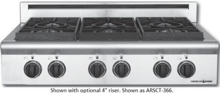 American Range ARSCT366ISL Legend Series Liquid Propane Sealed Burner Style Cooktop, in Stainless Steel