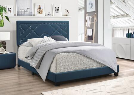 Acme Furniture Template: Ishiko Collection 20857EK Eastern King Bed in Dark Teal Fabric
