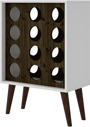 "Manhattan Comfort Lund Collection 122AMC15X 21"" 12 Bottle Wine Cabinet and Display with Fashionable Splayed Legs in"