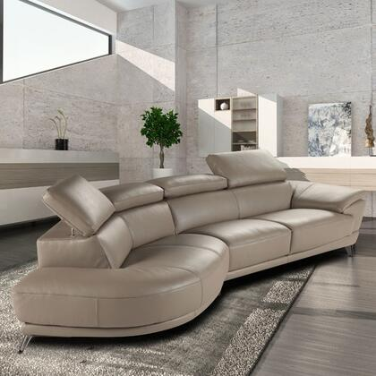 Marisol Italian Leather LF Sectional Chaise 18055 LHFC