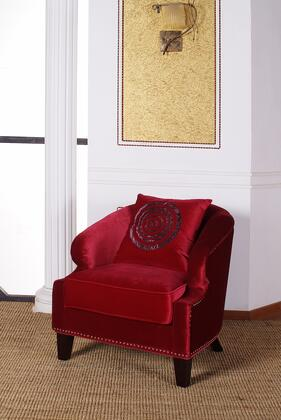 Armen Living LC730CLRE Contessa Series  in Red