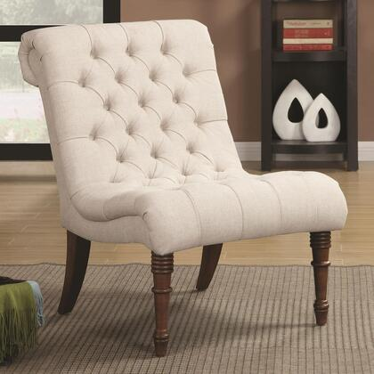 Coaster 902176 Accent Seating Series Armless Fabric Wood Frame Accent Chair