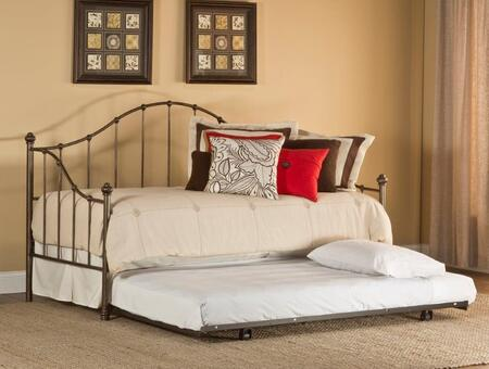Hillsdale Furniture 1271DBL Amy Daybed with Suspension Deck, Compact Size and Metal Construction in Aged Steel Finish
