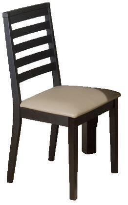 Jofran 596-932KD Contemporary Faux Leather Wood Frame Dining Room Chair