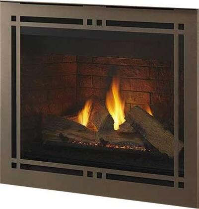 "Majestic DBDV42PLATIx 48"" Meridian Series Fireplace with 42"" Viewing Area, 40500 BTU and Intellifire Plus IPI Ignition System"