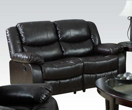 Acme Furniture 50561 Fullerton Series Bonded Leather Reclining with Wood Frame Loveseat