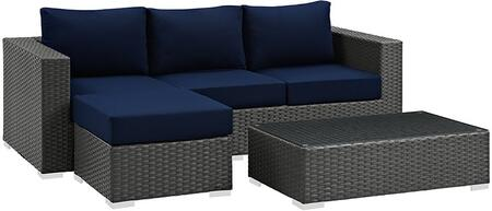 Modway EEI1889CHCNAVSET Rectangular Shape Patio Sets